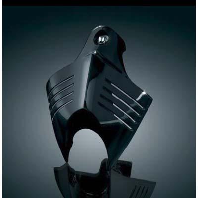 【Kuryakyn】V-Shieldホーンカバー グロスブラック