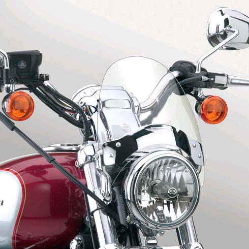【ナショナル サイクル】 フライスクリーンLS・ウィンドシールド ライトスモーク 39mm~43mmフォーク N2530
