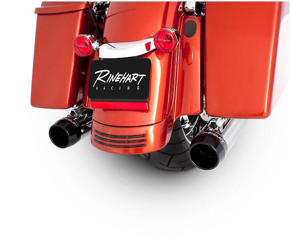 RINEHART ツーリングモデル用マフラー 3.5インチ クローム/ブラック