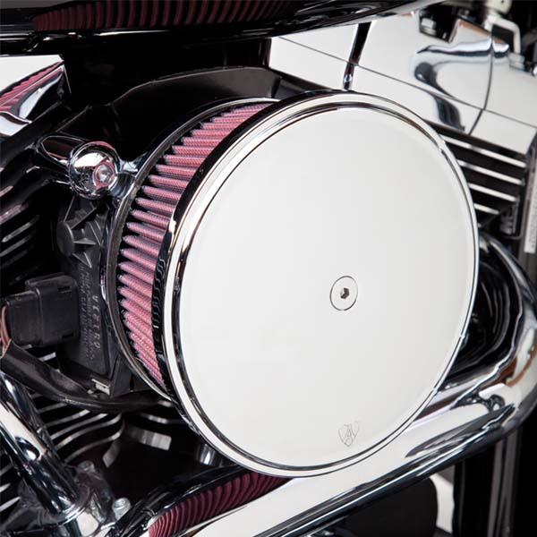 【Arlen Ness】Billet SuckerステージII・エアクリーナーキット スムース/クローム