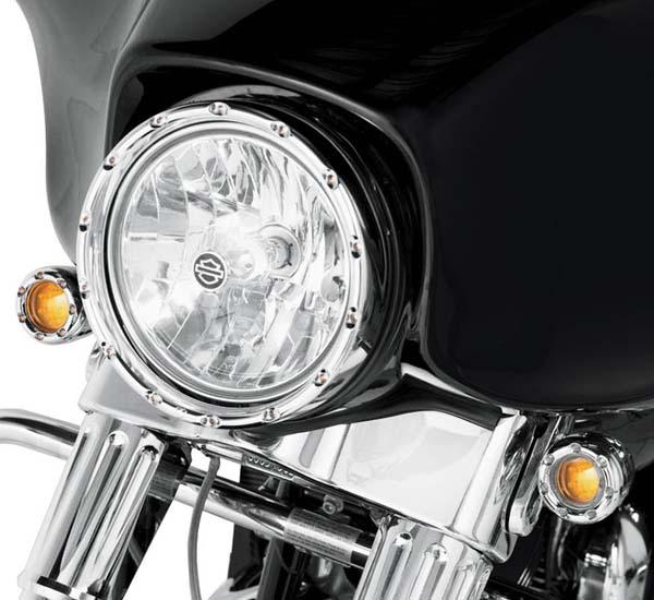【Arlen Ness】LED ヘッドライトリング クローム