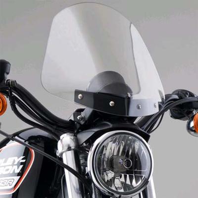 【ナショナル サイクル】GLADIATOR・コンパクト・ウインドシールド クロームマウント スポーツスター ダイナ N2704/N2705