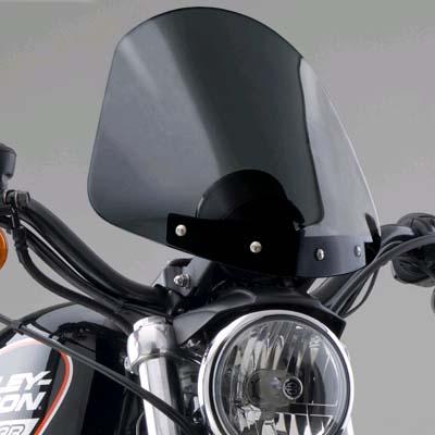 【ナショナル サイクル】GLADIATOR・コンパクト・ウインドシールド ブラックマウント スポーツスター ダイナ N2706/N2707