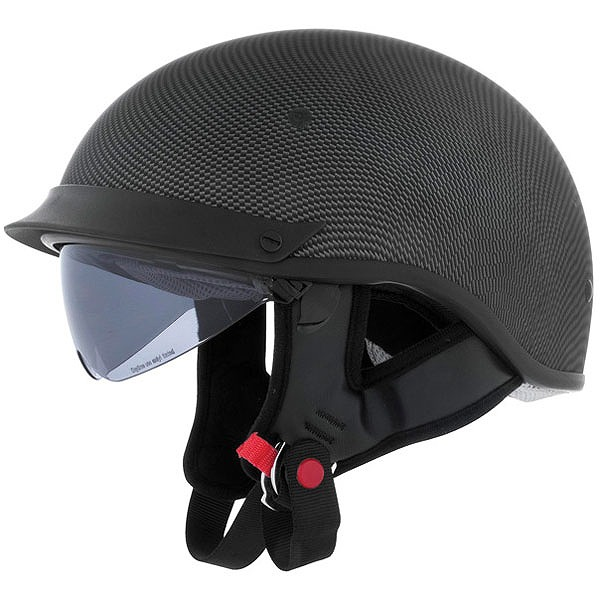 Cyber U-72 シールド付きハーフヘルメット カーボン調