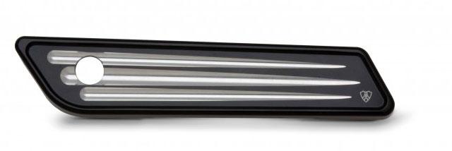 【Arlen Ness】Deep Cut Dresser Saddlebag ラッチ・カバー ブラック