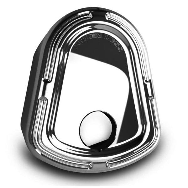 【Arlen Ness】Slot Track イグニッション・カバー ブラック/クローム 2014~2019 FLHT/X、FLHTCUTG