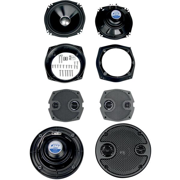 J&M ROKKER フェアリングx2、リアスピーカーx2 +360Wアンプキット FLH用
