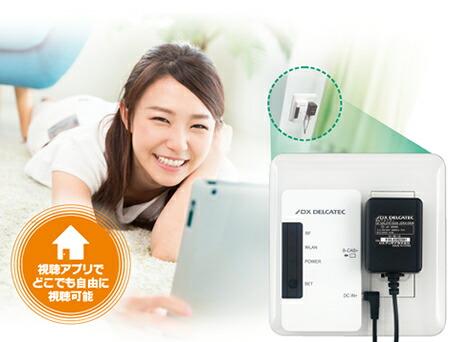 DXアンテナ メディアコンセント タブレット TV DMC10F1