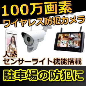 防犯カメラ ワイヤレス 屋外 無線 ワイヤレスカメラ SDカード 録画 セット TTC-NO1 Wセット