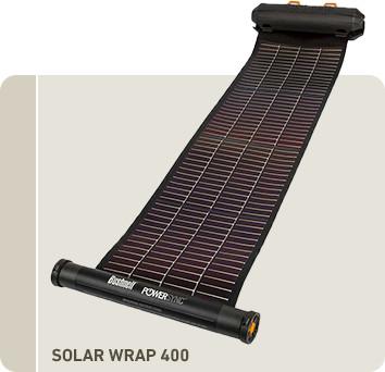 携帯型ソーラーパネル ソーラーラップ400 太陽光 充電器
