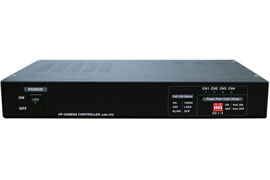 【スーパーセール限定 ポイント5倍 ~6/11 1:59まで】UTC対応 ワンケーブル AHDカメラ用 電源ユニット 4ch MT-POC4RX