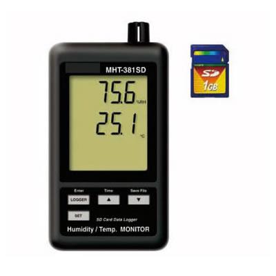 温湿度SDカードモニター MHT-381SD(デジタル温湿度計)