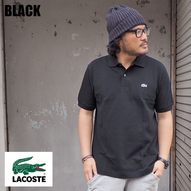 ac4ec056aa Domestic JAPAN white black black and white Father's Day made in LACOSTE  Lacoste classical music fitting polo shirt L1212AL men gap Dis short  sleeves ...