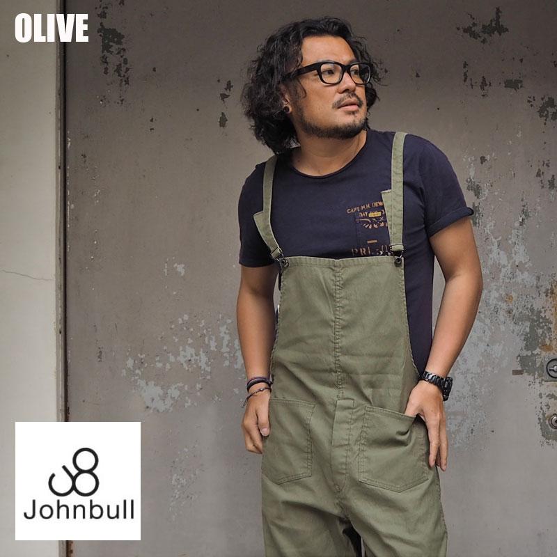 Johnbull ジョンブル オーバーオール メンズ ワークオーバーオール 21050 オールインワン サロペット パンツ つなぎ ツナギ アメカジ 日本製 JAPAN john bull ミリタリー ワーク アメカジ