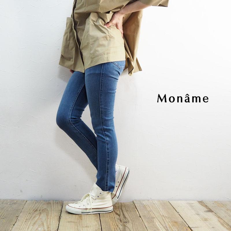 Moname モナーム デニムパンツ レディース スキニーデニムパンツ 41191201 デニム パンツ スキニー ジーンズ ジーパン デニムパンツ スキニーパンツ ロングパンツ カジュアル シンプル 大人 おしゃれ