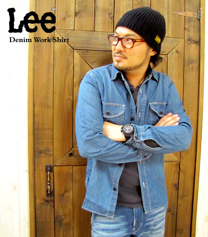 fb68e9a9a49 Lee Lee デニムワーク shirt 1 colors STDMT casual mens work cowboy denim shirt  work shirt denim long sleeve shirt t-shirt vintage casual shirt fs3gm