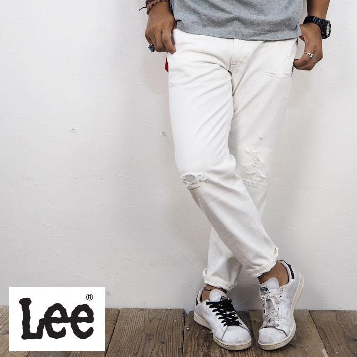 Lee リー HERITAGE TAPERED LM1303-534 テーパードパンツ テーパード デニム ジーンズ メンズ デニムパンツ Jeans リペア ダメージ リメイク 大きいサイズ Vintage加工 ヴィンテージ加工 Vintage ヴィンテージ ダメージデニム アメカジ