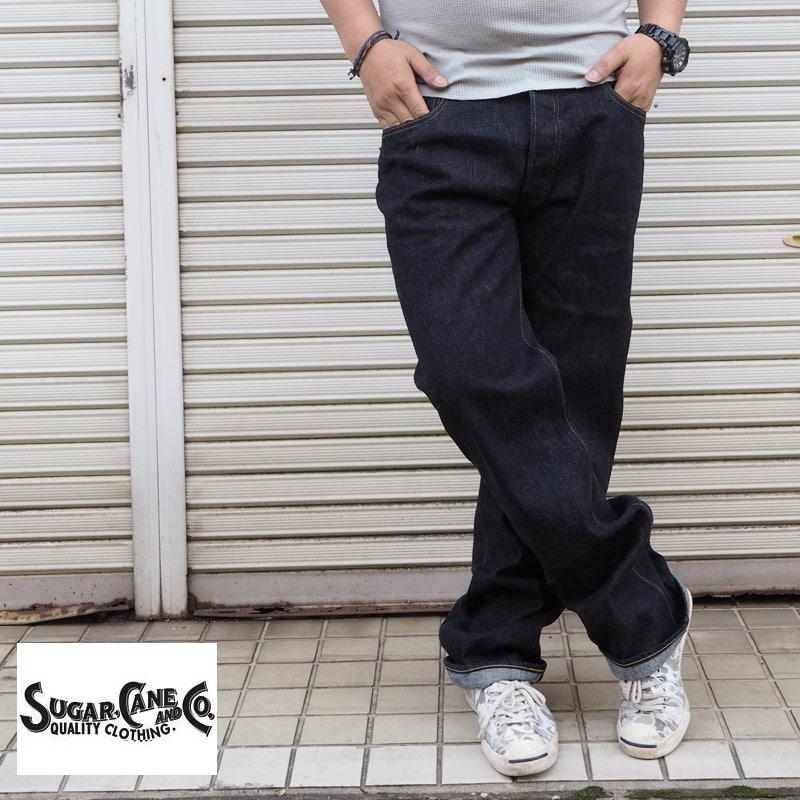 SUGAR CANE シュガーケーン デニムパンツ STANDARD DENIM 1947 TYPE-2 SC42009A メンズ ジーンズ デニム パンツ jeans アメカジ ストレート 国産 日本製 JAPAN ジーパン 綿 ワンウォッシュ ボトムス ワーク 36インチ 大きいサイズ