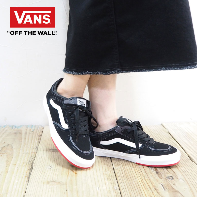 VANS vans sneakers Lady's Rowley Classic SS192 sneakers VN0A4BTTSK5 old school shoes shoes black black red red Shin pull casual stylish adult