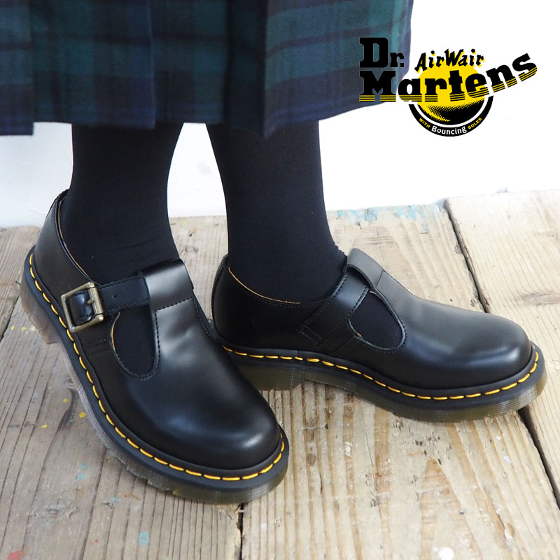 28fa496be4e8 Dr.Martens doctor Martin POLLEY T-BAR SHOE 14852001 Mary Jane shoes Mary  Jane shoes Lady s Polly T-bar shoes T-strap strap leather regular article  shoes ...