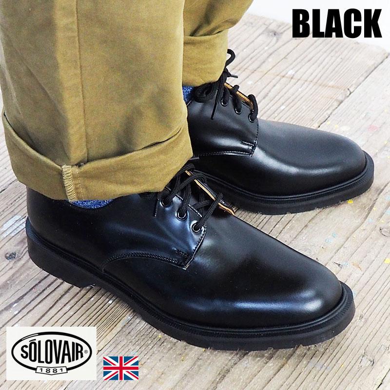 SOLOVAIR ソロヴェアー 革靴 4-996-17 シューズ 靴 プレーントゥシューズ ブラック 4EYE SHOE BLACK メンズシューズ ブーツ カジュアル ビジネス 紳士靴 短靴 ソロベアー グッドイヤー