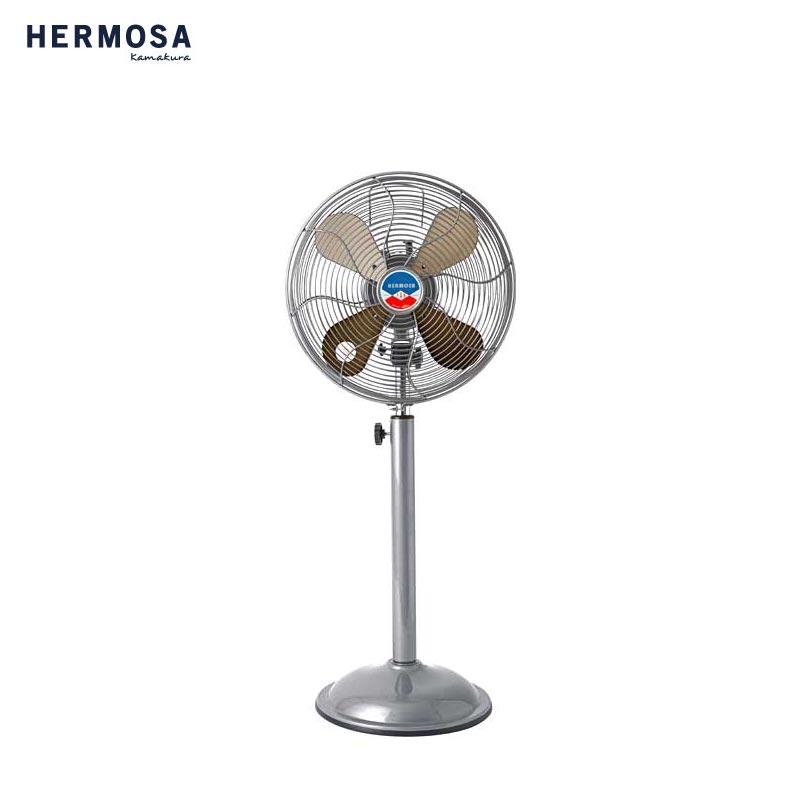HERMOSA ハモサ レトラファンフロア 扇風機 RF-0219 サーキュレーター レトロファン レトロ ビンテージ ヴィンテージ感 夏 家電 おしゃれ アイボリー シルバー サックス