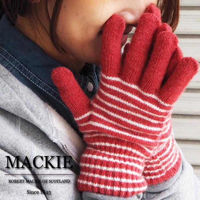 Headfoot Robert Mackie Mckee Narrow Border Pattern Knit Gloves 3