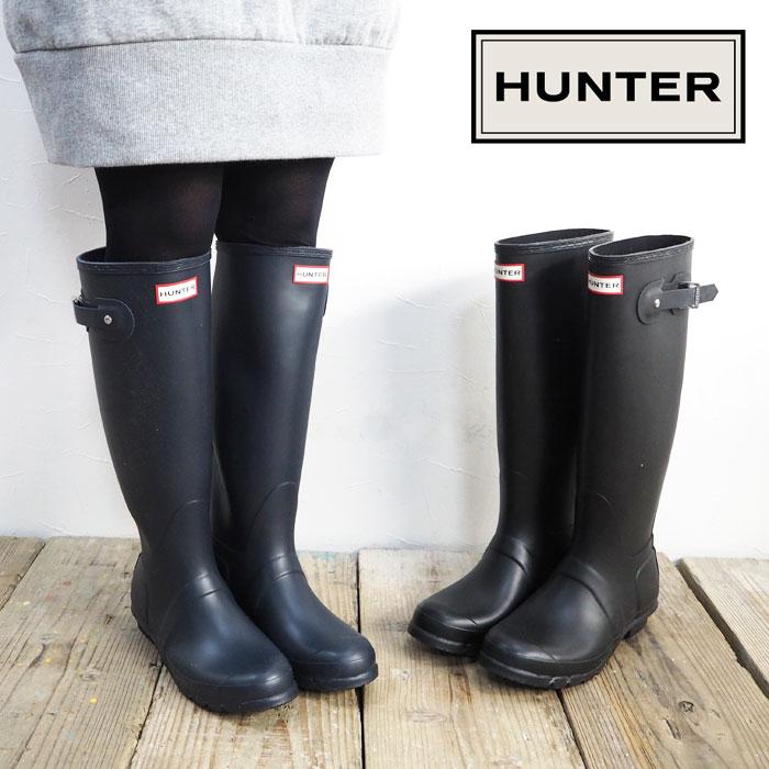 7aa978311267 HUNTER Hunter rain boots WFT1000RMA Original Tall Rain original tall rain  boot Womens shoes classic long rubber boots Black BLACK black