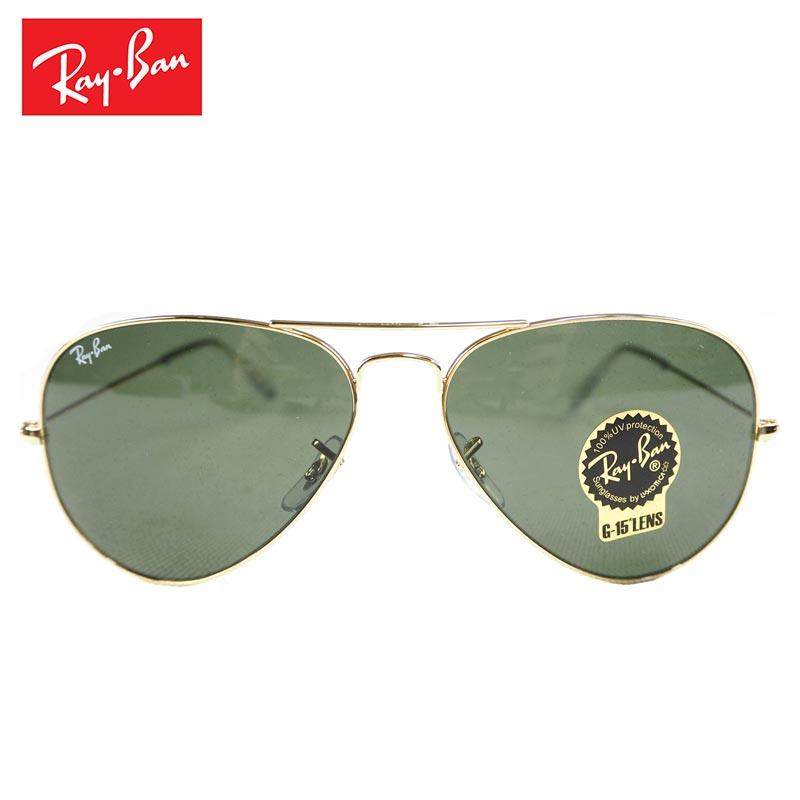 Ray-Ban レイバン サングラス RB3025メンズ レディース ティアドロップサングラス AVIATOR アビエーター ティアドロップ UVカット 58サイズ 黒 ブラック かっこいい おしゃれ シンプル イタリア製 メガネ 眼鏡 アイウェア