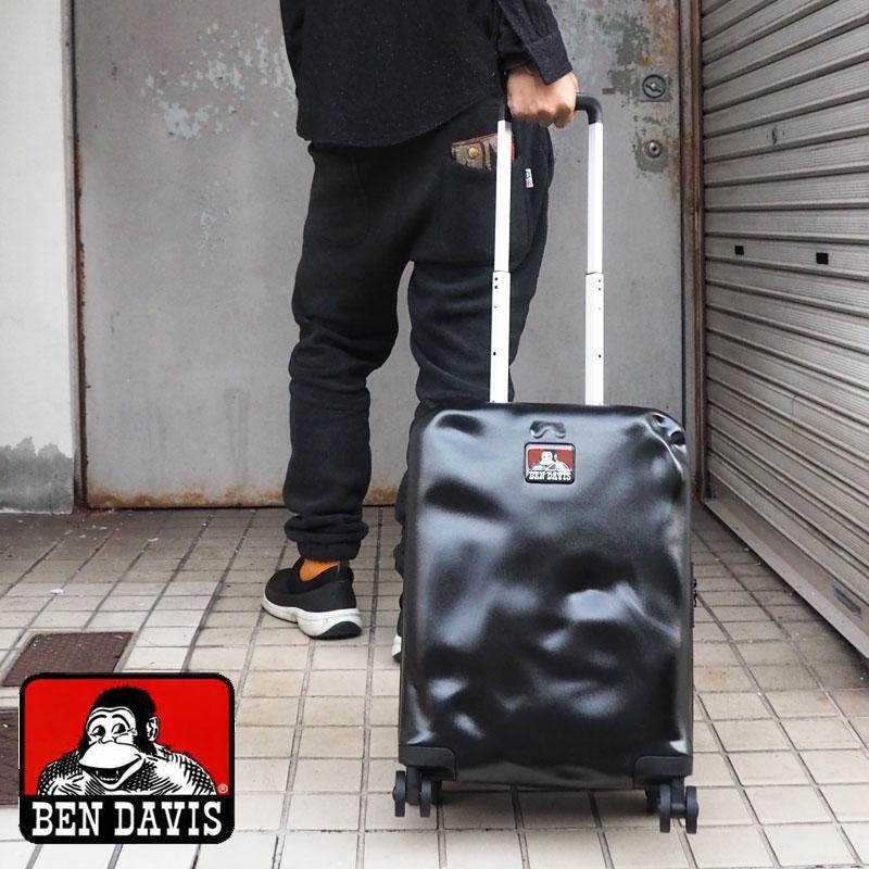 BEN DAVIS ベンデイビス CARRY CASE S BD101-BENDAVISキャリーケース スーツケース キャリーバッグ キャリー メンズ レディース 鞄 バッグ かばん 機内持ち込み Sサイズ 30L おしゃれ トラベルバッグ 旅行かばん 黒 ブラック 4輪 TSAロック ビジネス 出張 旅行