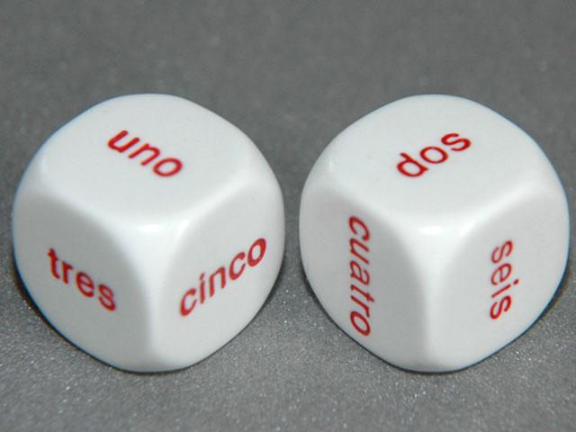 20mmスペイン語ダイス1-6