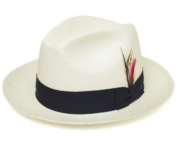【送料無料】麦わら帽子 ストローハット ニューヨークハット NEWYORKHAT パナマ ストローハット #2078 PANAMA FEDORA, Natural(パナマフェドラ - ナチュラル) [ 中折れ パナマ帽 ストローハット 麦わら 帽子 NEW YORK HAT メンズ レディース ]