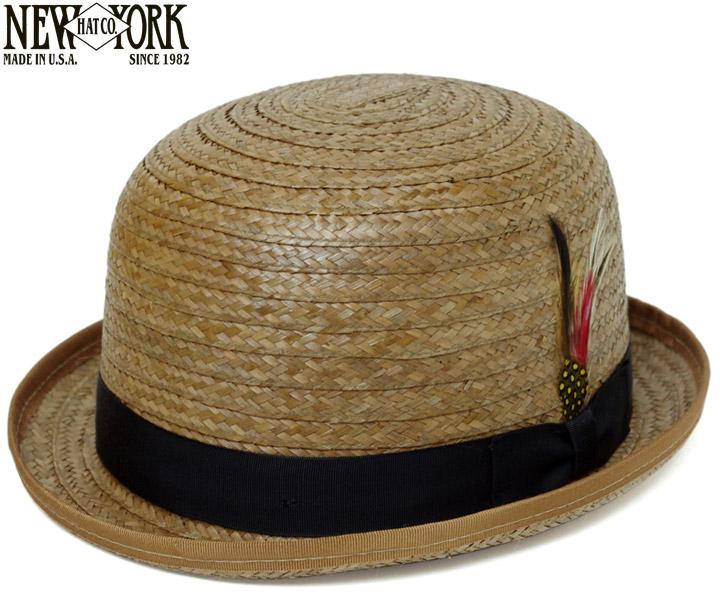 【送料無料】麦わら帽子 ストローハット ニューヨークハット NEWYORKHAT ボーラーハット #2136 COCONUT DERBY, Coconut(ココナッツダービー - ココナッツ) [ ストローハット 麦わら 帽子 メンズ レディース ]