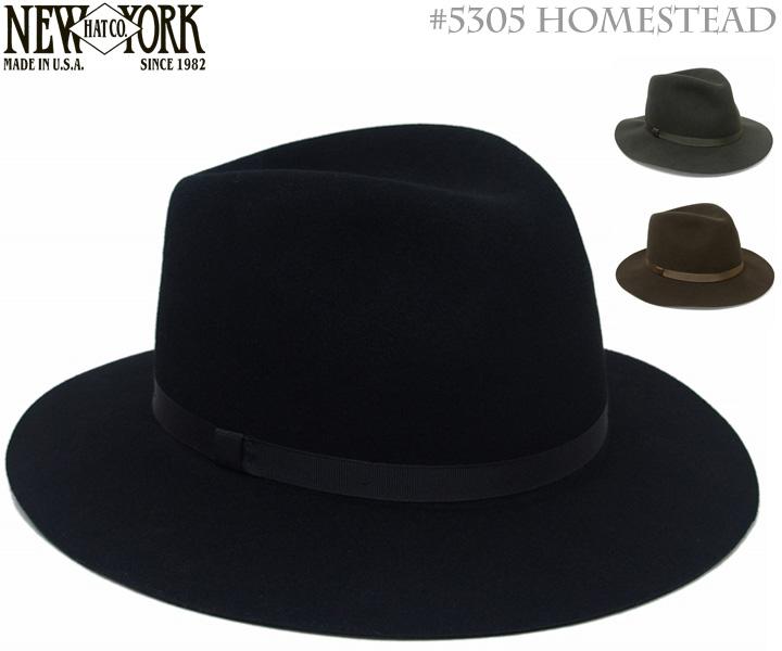 【送料無料】帽子 ハット 中折れ帽 ニューヨークハット (NEWYORKHAT) フェルトハット #5305 HOMESTEAD(ホームステッド)全3カラー [つば広 中折れ帽子 女優帽 紳士 メンズ レディース 男女兼用 ユニセックス], 子供服yuai 22a202c9