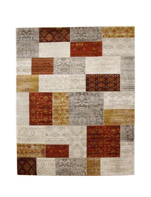 トルコ製 ウィルトン織り カーペット キエフ RUG オレンジ 約160×235cm - イケヒココーポレーション ※メーカー直送品