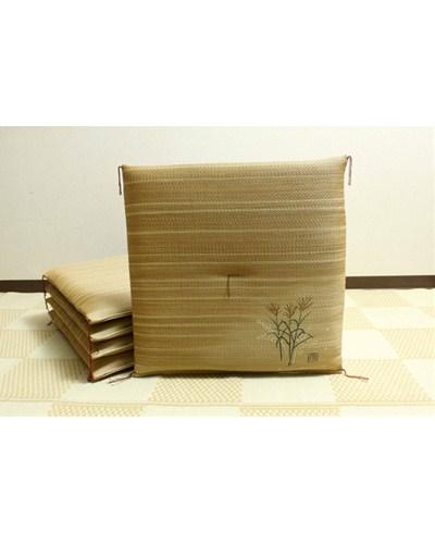 純国産 捺染返し い草座布団 薄 すすき 5枚組 約55×55cm×5P - イケヒココーポレーション [いぐさ][井草]