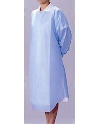 竹虎ビニールエプロン袖付き ブルー 1枚入×50枚 - 竹虎