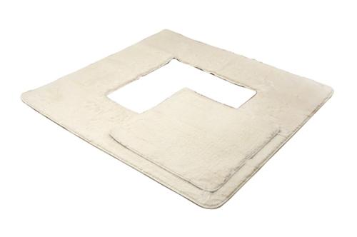 イケヒココーポレーション 堀りごたつ ラグ カーペット 4畳 無地 Hフィリップ堀 アイボリー 約200×300cm(くり抜き部90×150cm) ホットカーペット対応  - イケヒココーポレーション