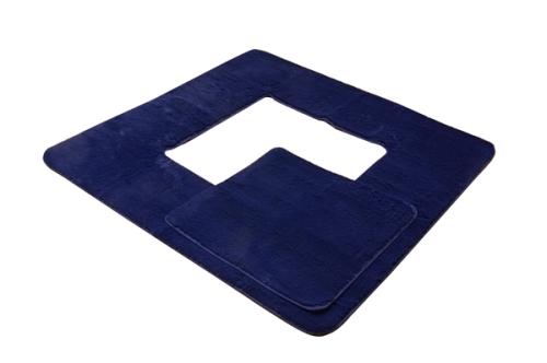 イケヒココーポレーション 堀りごたつ ラグ カーペット 3畳 無地 Hフィリップ堀 ネイビー 約200×250cm(くり抜き部90×120cm) ホットカーペット対応  - イケヒココーポレーション