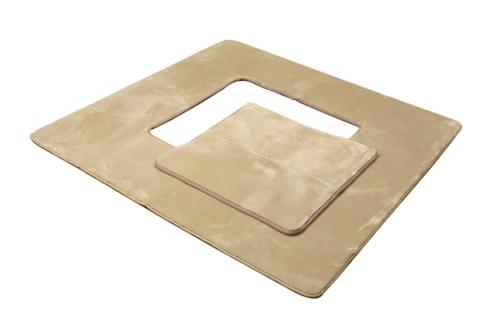 イケヒココーポレーション 堀りごたつ ラグ カーペット 3畳 無地 Hフランアイズ堀 ベージュ 約200×250cm(くり抜き部約90×120cm) ホットカーペット対応  - イケヒココーポレーション