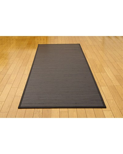 糸なしタイプ 竹の廊下敷 ユニバース ブラック 80×440cm - イケヒココーポレーション