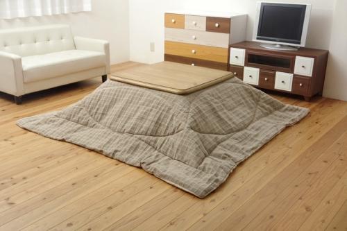 イケヒココーポレーション こたつ布団 正方形 シンプル 掛け単品 バティス ベージュ 約205×205cm 薄掛タイプ - イケヒココーポレーション