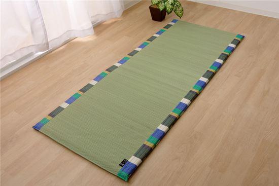 い草 国産 ごろ寝マット フリーマット いろは コンパクトマット グリーン 約70×180cm中:固わた20mm - イケヒココーポレーション ※メーカー直送品