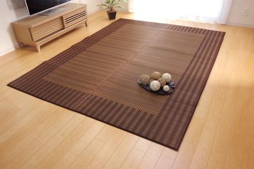 い草ラグカーペット 3畳 シンプル モダン Fナール 約191×250cm 裏ウレタン - イケヒココーポレーション