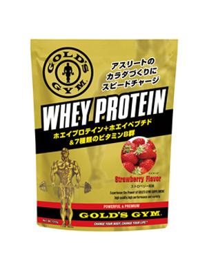 ゴールドジム ホエイプロテイン ストロベリー風味 1500g - THINKフィットネス