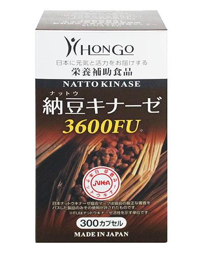 納豆キナーゼ3600FU 377mg×300カプセル - HONGO