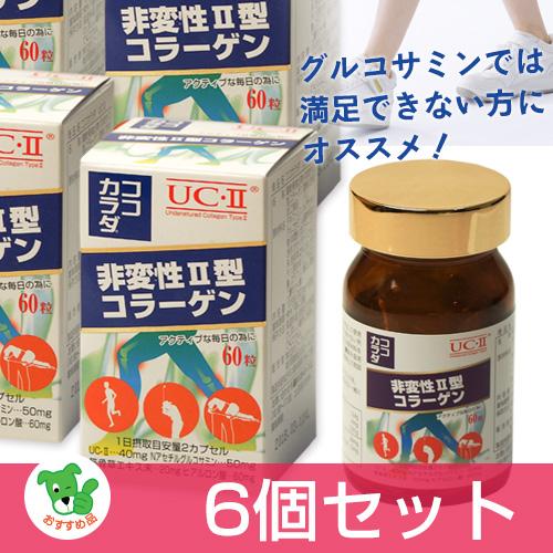 ココカラダ NEW 非変性2型コラーゲン(UC-2) 60粒×6個セット ※プレゼント付 - コーワリミテッド [UC2]