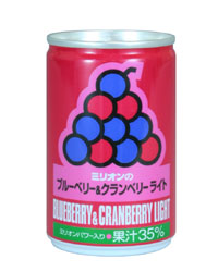 ブルーベリー&クランベリー・ライト 30缶 - ミリオン