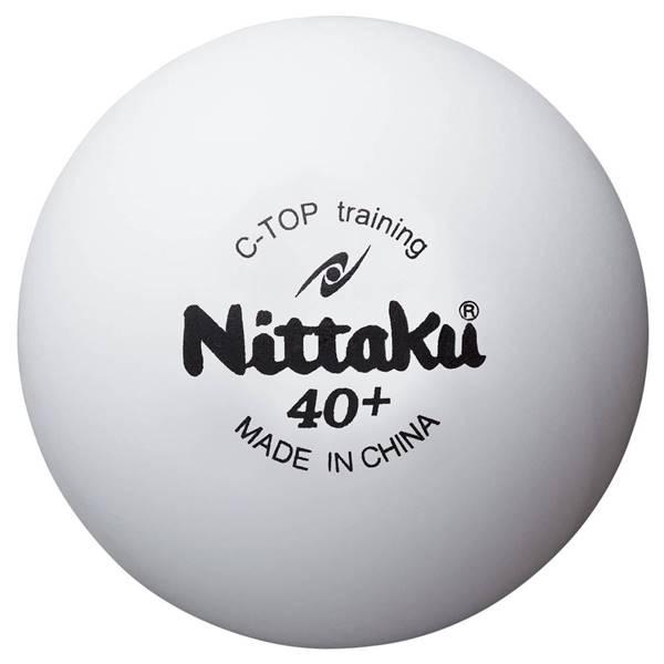 ニッタク 卓球 ボール 硬式40ミリ 練習球 Cトップトレ球 10ダース(120個入) - ニッタク