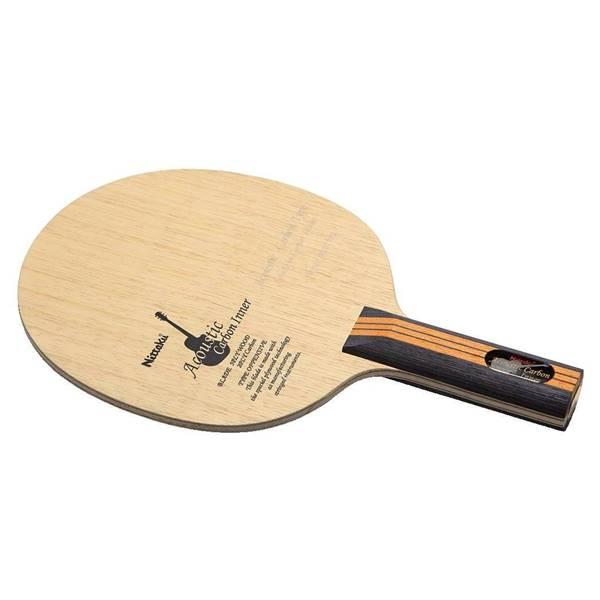 ニッタク 卓球 ラケット シェークハンド 攻撃用 アコースティックカーボンインナー ST - ニッタク